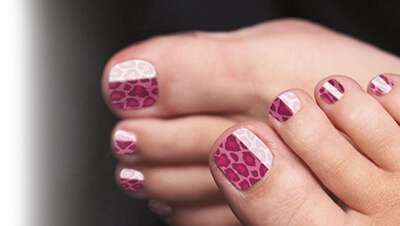 A complete Pedicure treatment with Minx application
